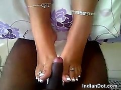 18yo Indian Giving A Great Foot Job