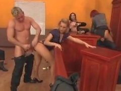 Italian CFNM-Group turns into nude Orgy