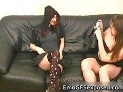 Amateur emo trio blowjob funny part2