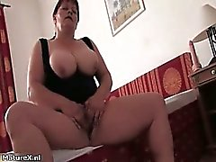 Horny experienced woman with huge melons part4