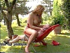 Submissive Tall Italian Shemale Slut Fucked In Garden