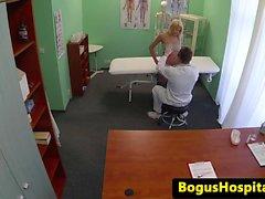 Fake doctor bangs smalltitted eurobabe
