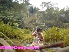 HD Heather Deep gets creampie on quad in river jungle new