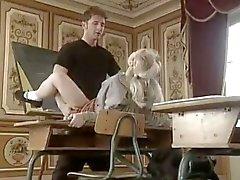 Schoolgirl and teacher with Ivona Zampova
