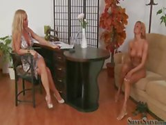 Silvia Saint interviews blonde bombshell Ashley Bulgari nude
