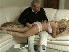 British porn actress Samantha Bond spanked