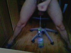 Hanging 2litre bottle on my balls