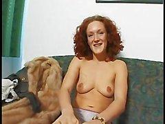 Horny Red-Head Masturbates For Casting Agent