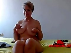 Naked Blonde MILF Bedroom Camshow