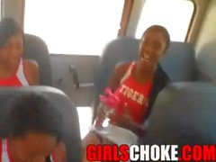PYT cheerleaders getting nasty on bus