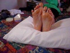 Lotion foot rub