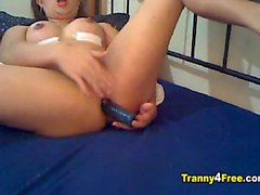 Princess Chinita on A Tranny Solo Webcam Show