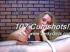 107 Handjob Cumshots Compilation