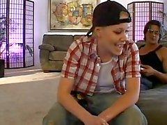 Lesbian forced to deepthroat