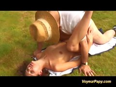 outdoor orgy with voyeur papy