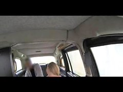 FakeTaxi Busty tv star Gwen gets a sticky facial