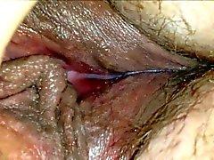 Horny amateur wet MILF muff - closeup