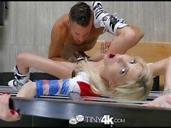 Tiny4K - Bad Girl Piper Perri enjoys a trick or treat fuck
