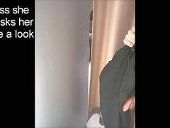 Amazing changing room dickflash to curious teen