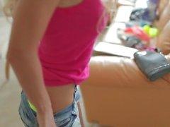 Alena Lukyanova striptease