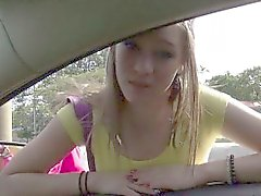 Busty teen London Fucked on a highway