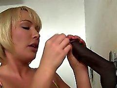 Busty blowjob slut facialized