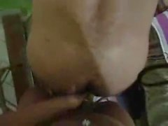 tranny fucks and piss on a slave