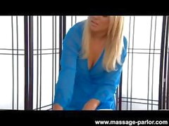 Alexis Monroe is a blonde who performs a massage and fucks the client