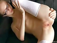 twenty skinny teacher posing naked