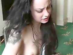 Tattooed sub babe spanked and fucked roughly