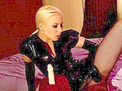 Toying and pleasuring with bdsm dildos