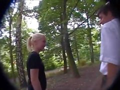 Cute German blonde teen desperately needs to suck his cock