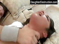 Abuso hija adolescente que joven