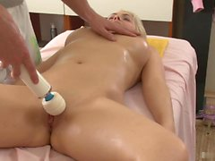 Russian sexpot, Petra, is getting a sensual massage...