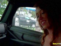Dexlynn sucks dick in a car and outside