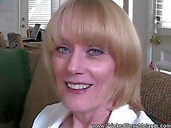 MILF Amateur Housewife Swallows Cum