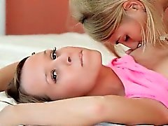 Two teen models trying new strapon