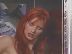 Absurdly horny slut shafted in the elevator.. shaft