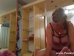 Mature BBW Slut Goes Cock Riding