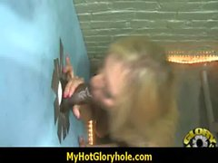 Gloryhole interracial cock licking and sucking 1