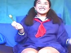Asian Horny Babe Toying Her Own