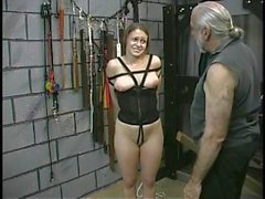 Joleen & Dungeon Slaves Spanking Sultry Submissives (Part 3)