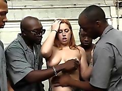 Edyn Blair sucks horny black mechanics to pay the bill