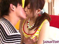 Dicksucking pigtailed pilé japonaise
