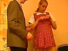 Russian Schoolgirl Having Sex In Class