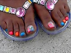 Domonique Ross Rainbow Toes