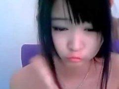 Симпатичная Китайская веб-камера девушки с волосатая Киски