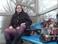 BBW amateur Emmas public masterbation and outdoor flashing of fat gal