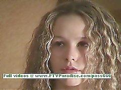 Fiona lovely busty blonde girl posing her tender body