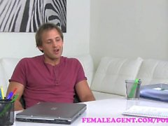 FemaleAgent. Horny blonde MILF finishes casting with a mouthful of cum